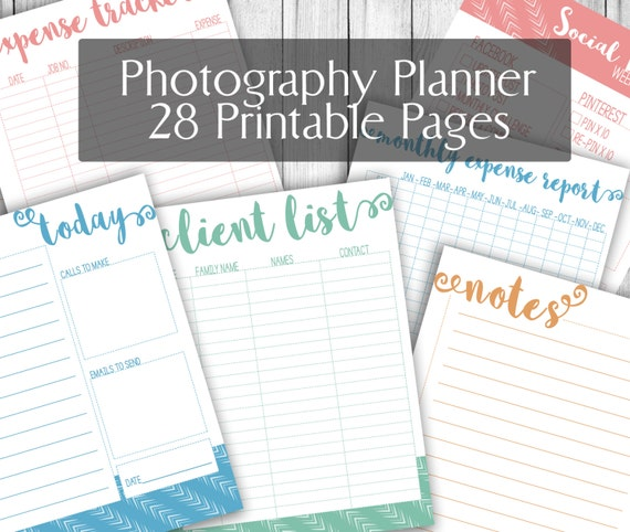 Photographers Planner Printable 85x11