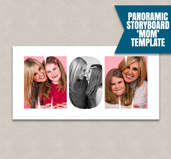 Mom Photoshop Collage Template Word Storyboard Template Psd Collage Template Photographer Moodboard Collage Ideas Instant Download