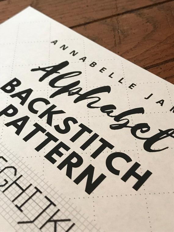 Alphabet Backstitch Pattern / Beginner Cross Stitch Patterns