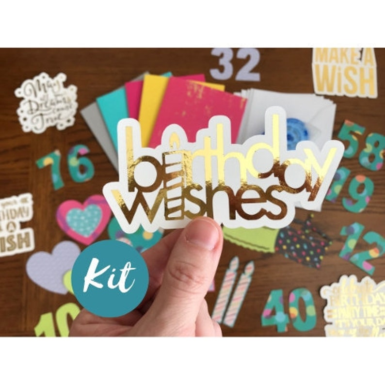 DIY Card Making Kit Happy Birthday Art Craft Kits For