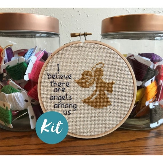 Beginner Cross Stitch Kit Angel Custom Embroidery Angel Design