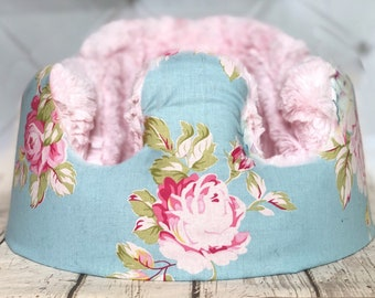 33e4ed461cb Blue Shabby Chic Pink Fur Bumbo Cover