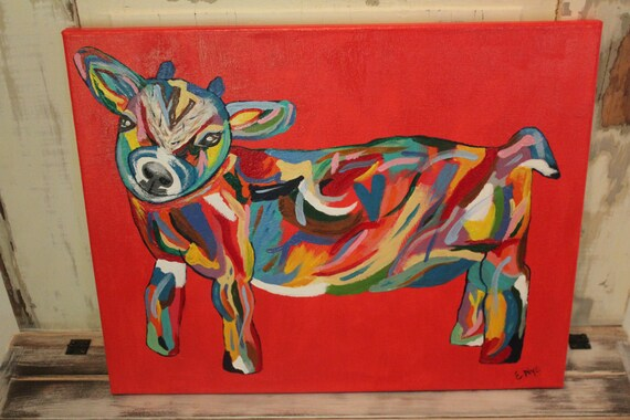 Goat Print on Canvas