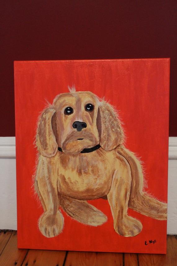 Original Custom Pet Portrait Paintings