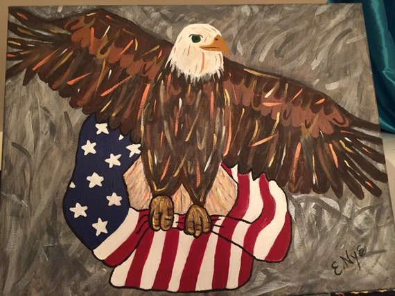 Bald Eagle Print on Canvas