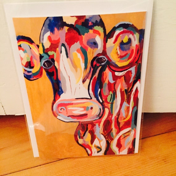 EricaNyeART Cow Card