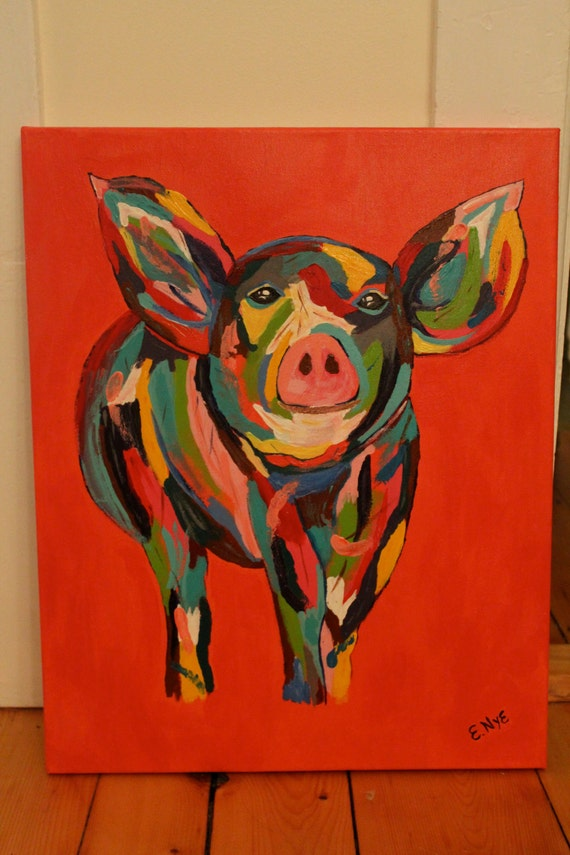 Pig Print on Canvas