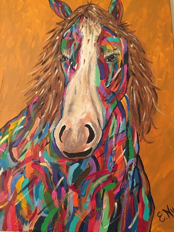 Horse Print on Canvas