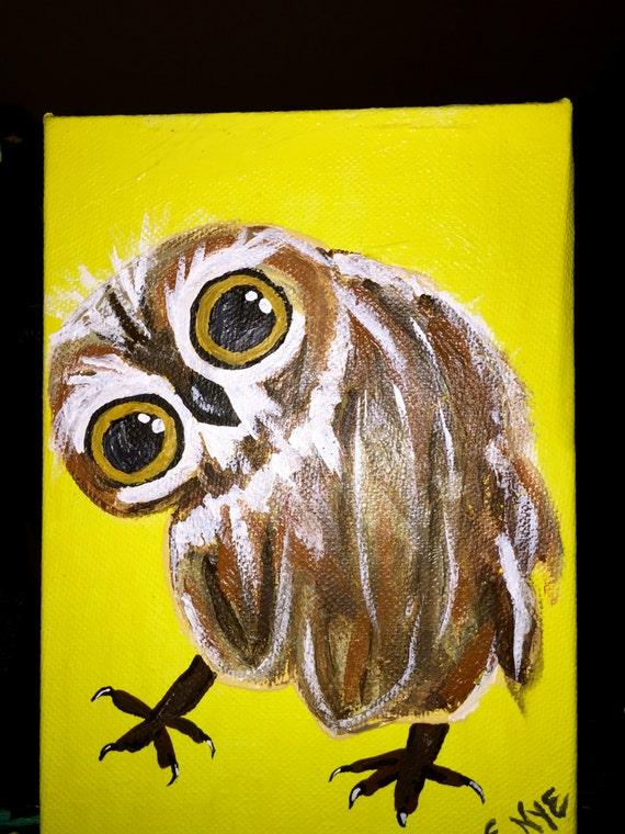 Owl Print on Canvas