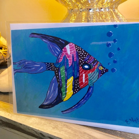 Tropical Angel Fish Card