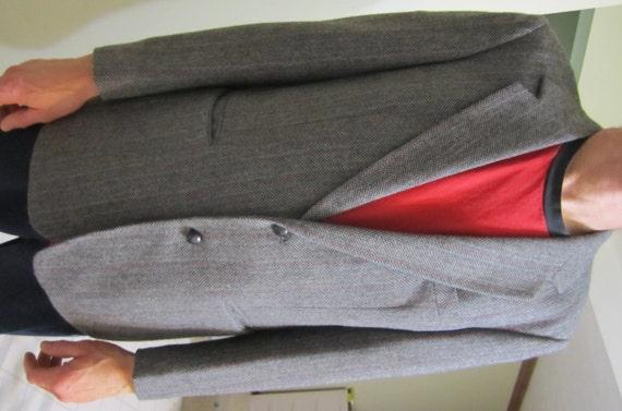 VTG taille 42R Oakton Ltd. laine mélange Polyester Mens Blazer Jacket Sports manteau 80 s hiver usure vêtement formel informelle tenue