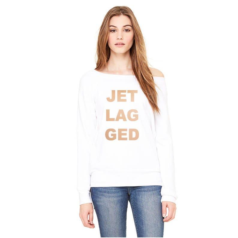 Ladies/' Sponge Fleece Wide Neck Sweatshirt Jet Lagged