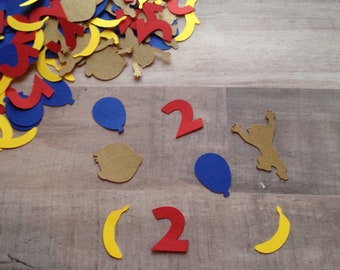 Curious George Birthday Confetti Party Decorations