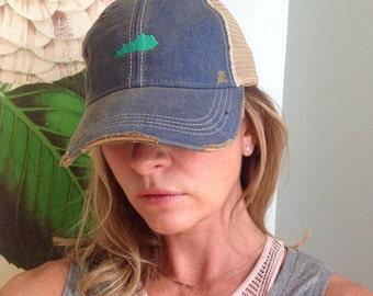a0053d9e13e Mini Kentucky state Embroidered Trucker Hat