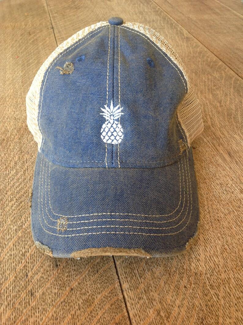 c7b514b76e5f6 Pineapple Embroidered Trucker Hat Women s Trucker Hat