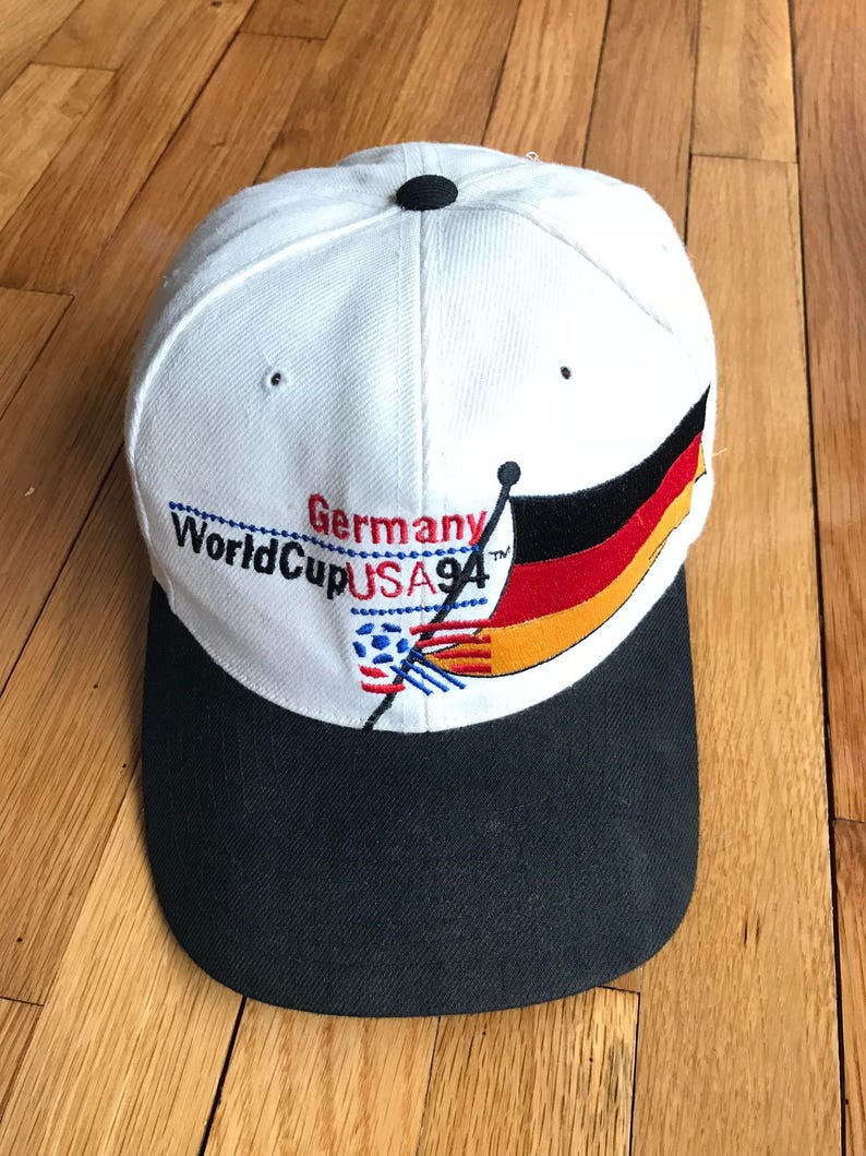 b2fa3902744f8 Vintage 1994 Germany World Cup Team USA Snapback Hat One Size Black White