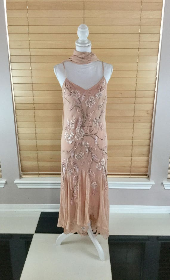 Vintage Sequins Beaded Dress