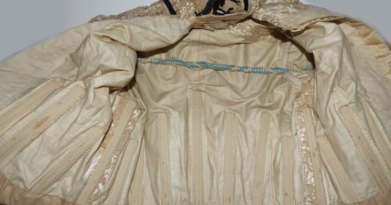 Antique Battenberg Lace Bodice Jacket Blazer 1890… - image 5