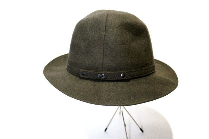 2e79d0f75df2d Vintage BORSALINO Felt Women s Hat Olive Green Size 60