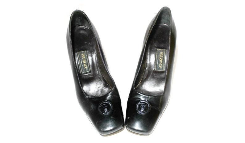 f36a6df07d731 Versace Medusa czarne skórzane kobiety buty szpilki istante
