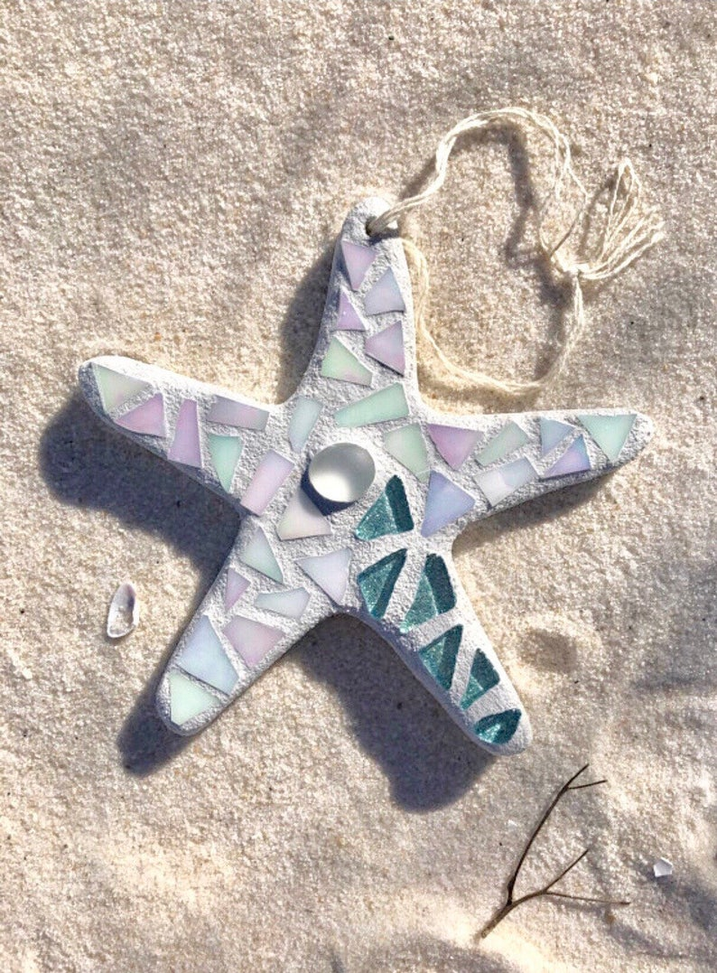 Stained Glass Mosaic Starfish, Coastal Decor, Starfish, Starfish Ornament,  Beach Decor, Mother's Day Gift, Gift for Mom, Gift for Her