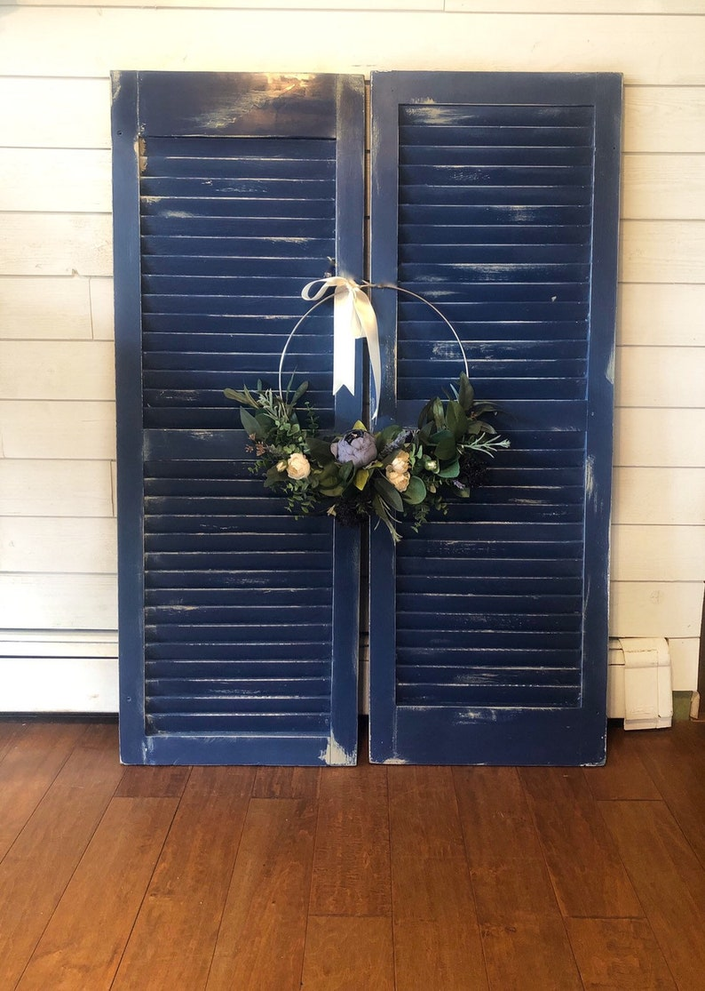 Custom Color Rustic Decorative Shutter Magazine Rack And Photo Hanger Or  Christmas Card Holder  Wedding And Shower Decor