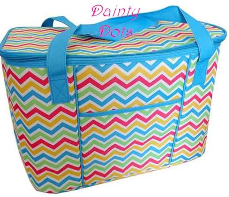 Pretty Chevron Food Bag Monogram Cooler Graduation Gift Insulated Bag| Monogram Picnic Bag