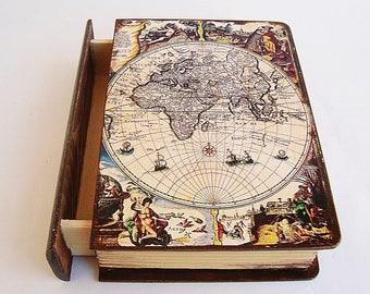 Antique Map Storage Etsy - Antique map box