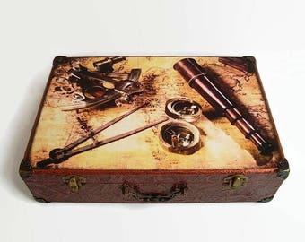 Ancient Suitcase Etsy - Antique map box