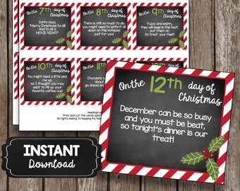 Ideas for 12 days of christmas gift tags