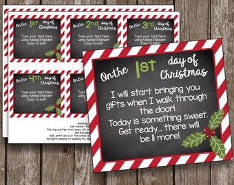 graphic relating to 12 Days of Christmas Printable Tags named 12 times of xmas Etsy