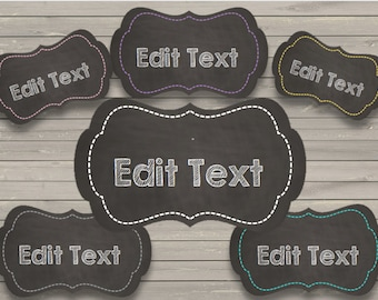 graphic relating to Free Printable Chalkboard Labels titled Chalkboard labels Etsy