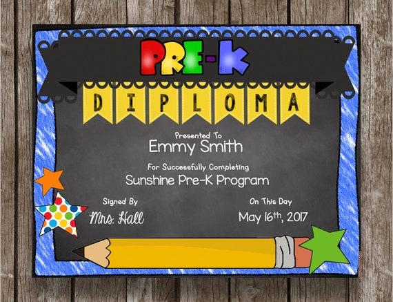 50 of sale pre k diploma prek graduation chalkboard etsy