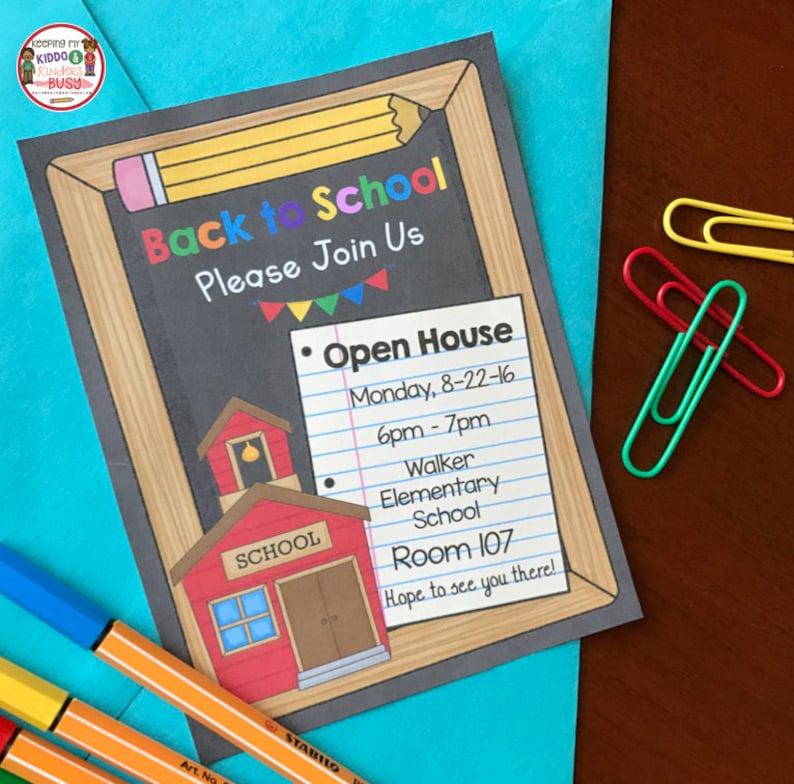 50% OFF SALE Open House Invitation - Back to School - Meet the Teacher -  Preschool - Kindergarten - Printable PDF