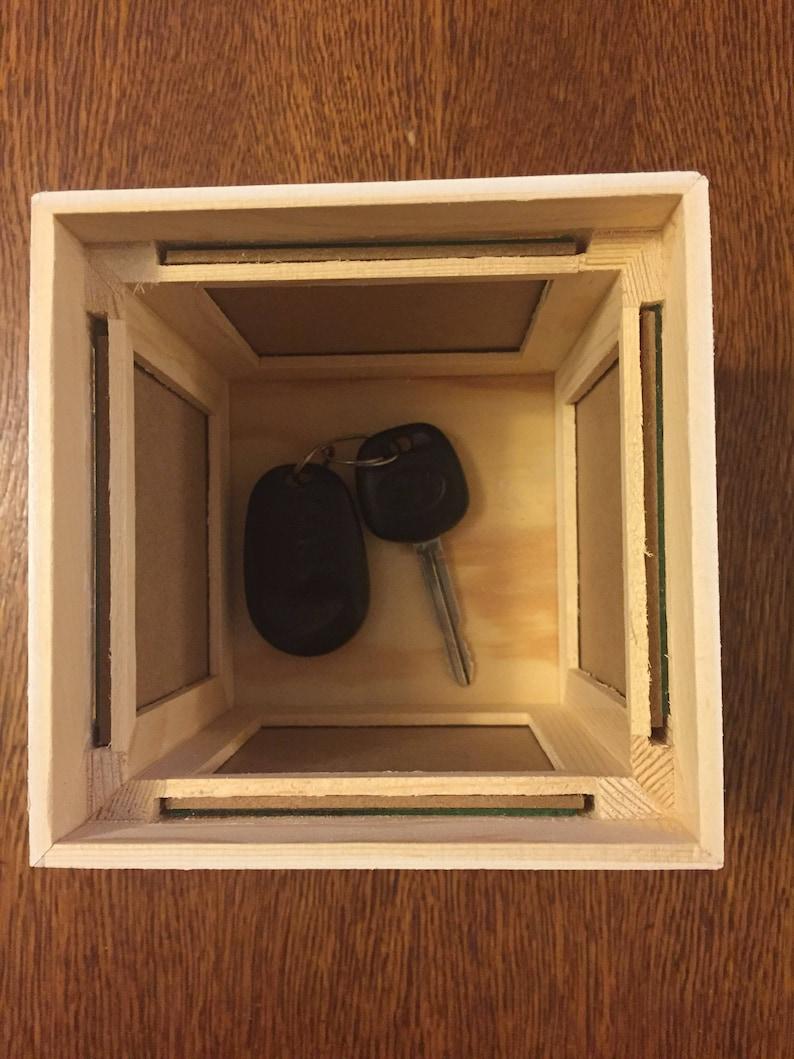 Fête mères blanc rustique en bois cube thé lumière votive Chandeliers LOVE COEUR