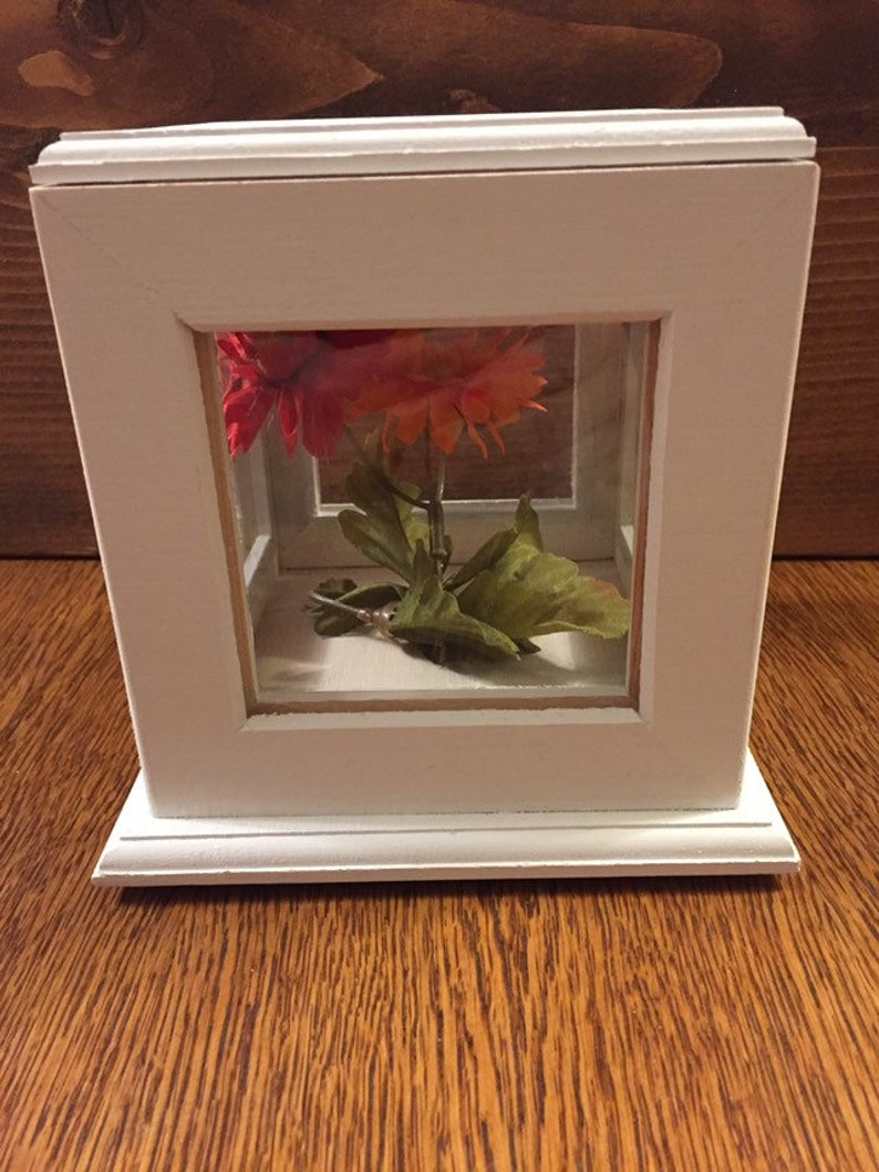 Wedding Picture Cube Wedding Keepsake Photo Caddy Unity Sand Box Four Sided Picture Frame Display Box White Rotating Wooden Picture Box