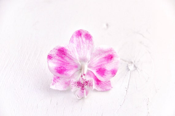 Pink orchid ring pink orchid flower pink ring orchid pink etsy image 0 mightylinksfo