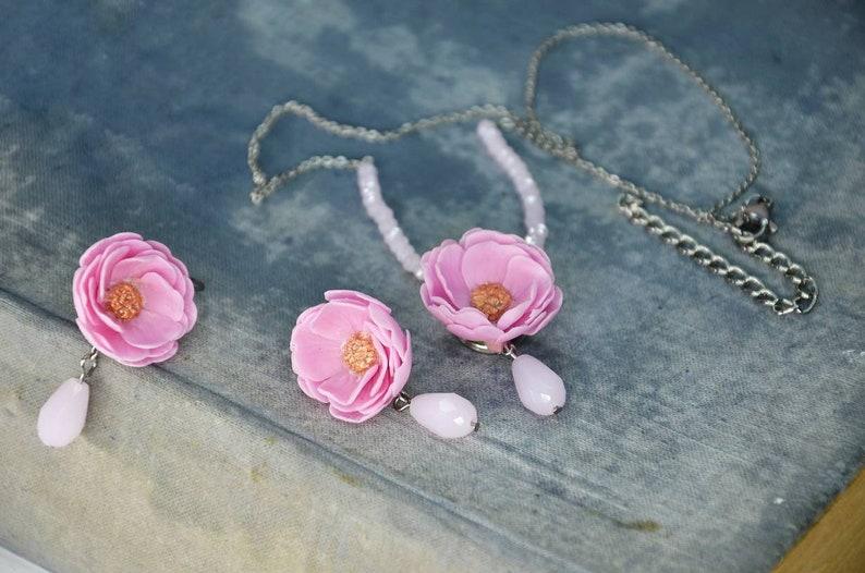Cherry blossom jewelry earrings,pendant