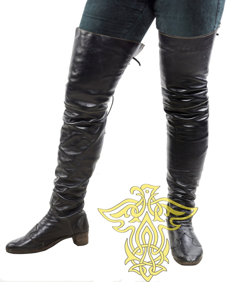 High boots  Pirate Boots Boots Musketeers cosplay LARP image 1