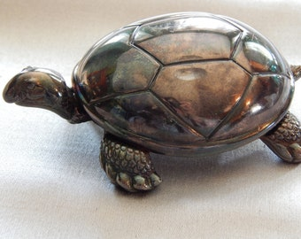 Vintage Reed & Barton Silver-Plated Turtle Music Box