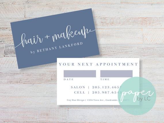 Haare Und Make Up Artist Visitenkarten Custom Druckbare