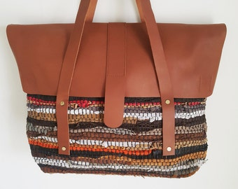 Chindi Rug (Recycled Leather) Shopper