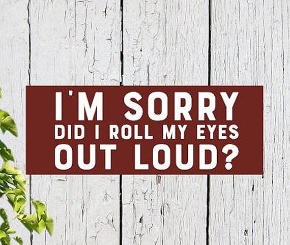Did I Just Roll My Eyes Out Loud  fun hanging plaque shabby /& chic wooden sign