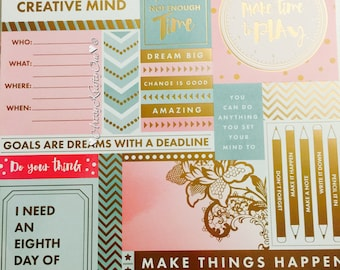 CUSTOM Planner Dashboard (set of 3, Mint Pink)