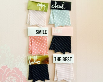 Fabric Flags (6pieces)