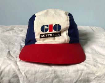 ef4ae95f66e Vintage GIO 4 panel hat. Cycling style cap.