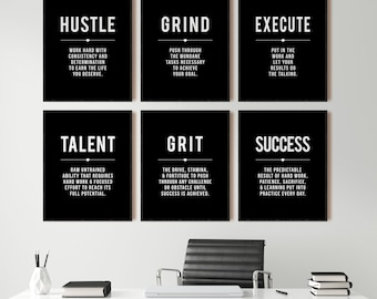Motivational Wall D/écor Nursery Decor Office Wall Art Office Print Unframed Motivational Wall Art Inspirational Wall Art 8 x 10 Black And White Quote Print