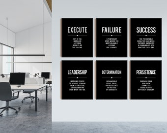 You Only Fail Quote Print Black /& Gold Wall Art Picture