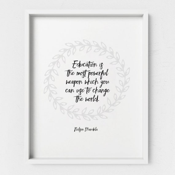 mentor gift teacher gifts education quotes nelson mandela