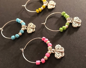 Wine Charms Butterfly